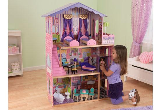 large dolls house play furniture large three floors