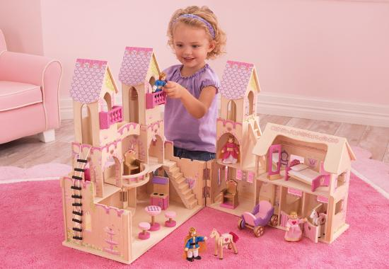 Princess castle dolls house plus furniture