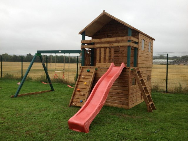 Extra Large 2 Story Tree House With Swings And Slide