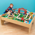 Wooden train sets