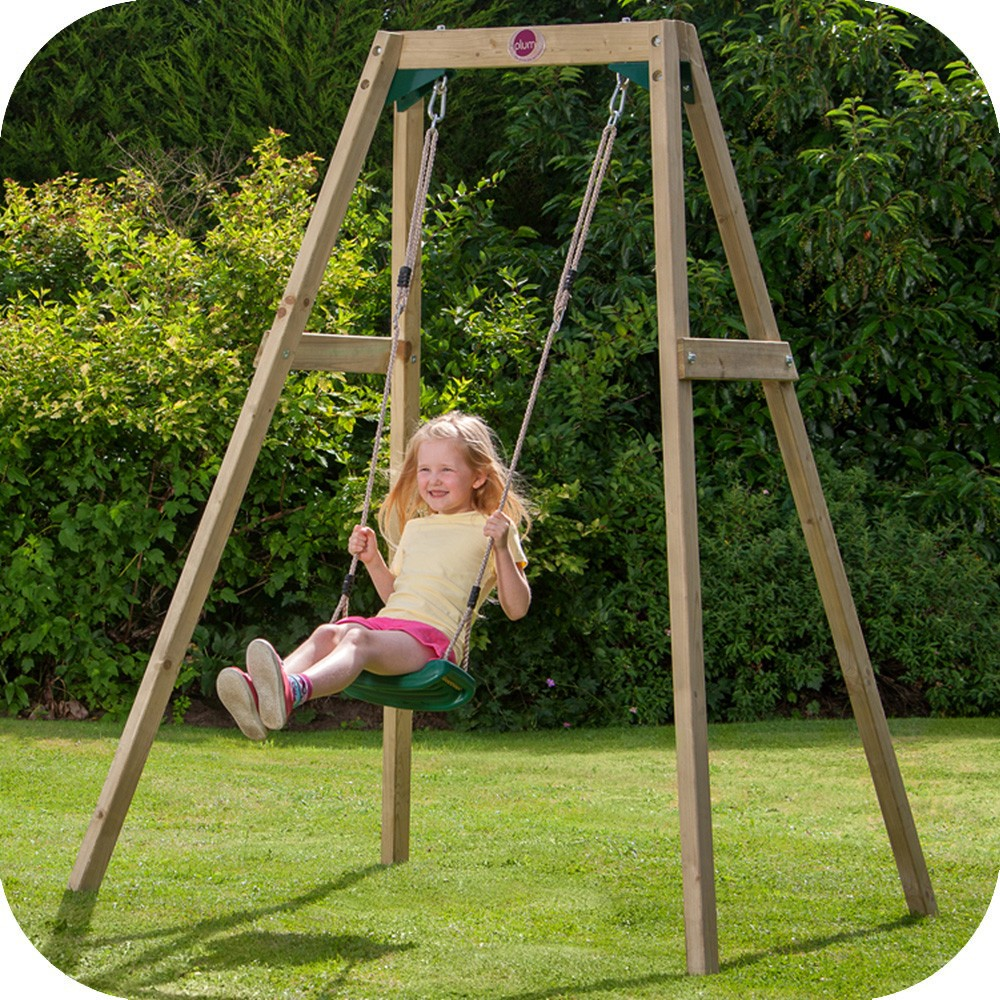 Heavy Equipment Playground >> Wooden single swing set Free Delivery • outdoor playground ...