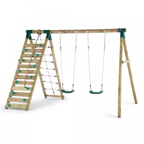uakari_wooden_swing_set sttswings climbing net rockwall