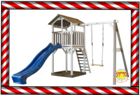 Jungle Start outdoor climbing frame and treehouse
