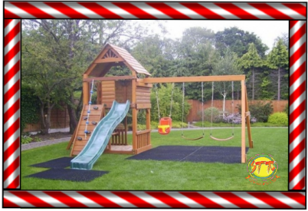 Rubber Grass Matting for play areas STT Swings Carlow
