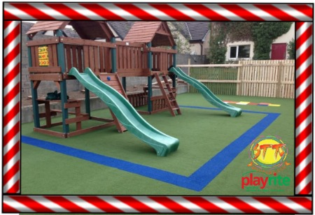 STT Swings Playrite Play Safe outdoor Safety Surface