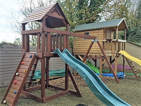 Ex Display Lydon swing and slide climbing frame stt swings