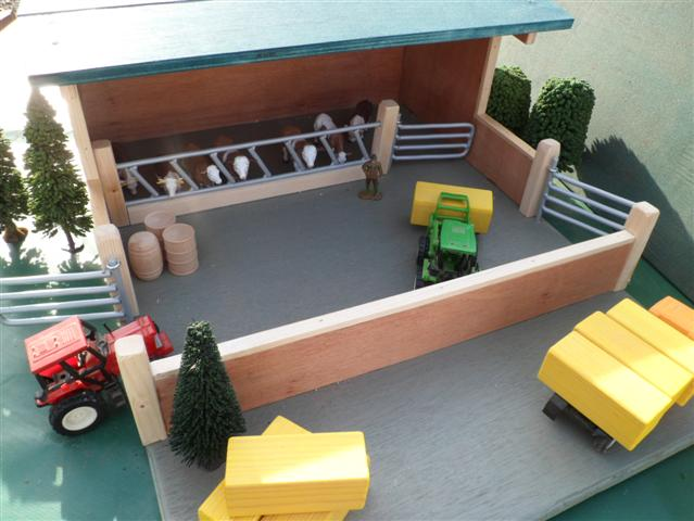 Livestock housing , wooden toy farm