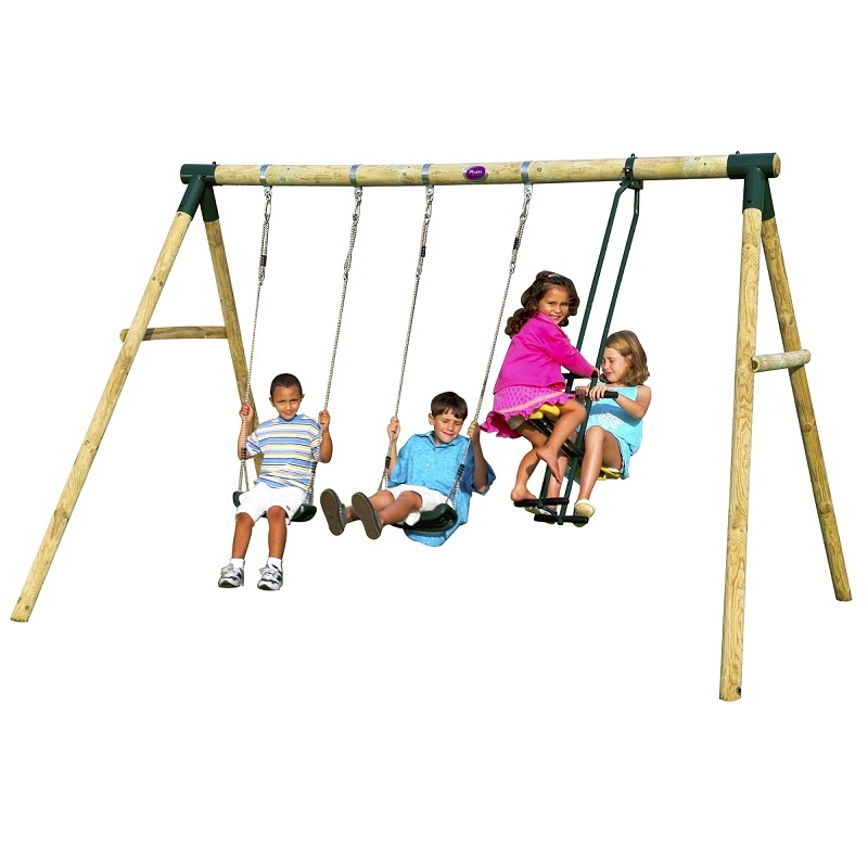 Colobus Wooden 3 Item Swing Set 2 Person Glider See Saw Sttswings